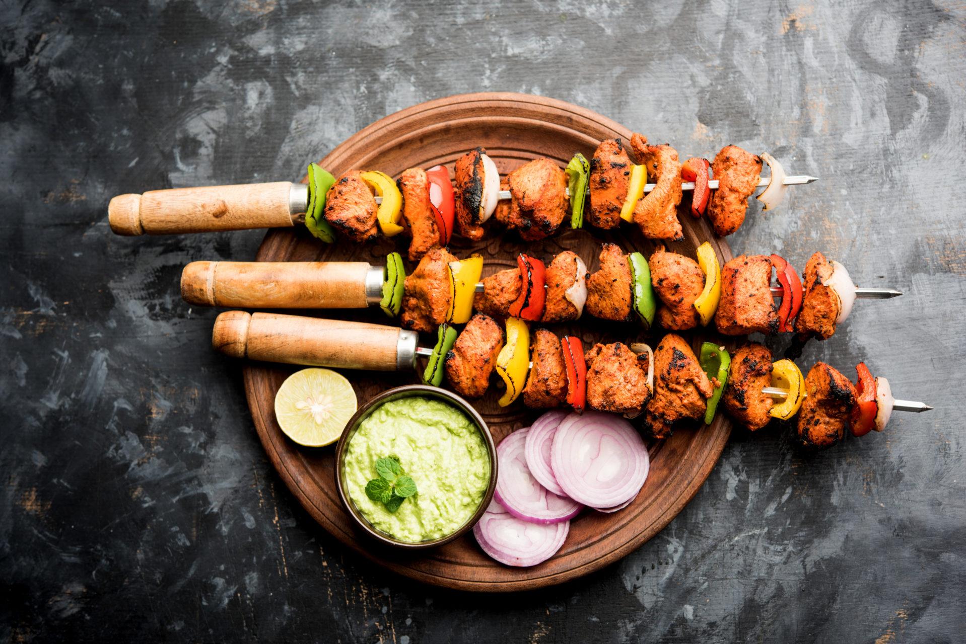 Brochettes marinade tandoori à griller au barbecue