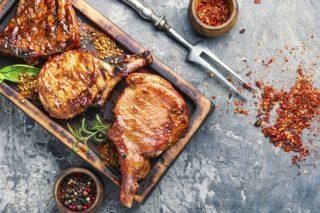 Côtes de porc marinade Chuck wagon, ribs à cuire au barbecue