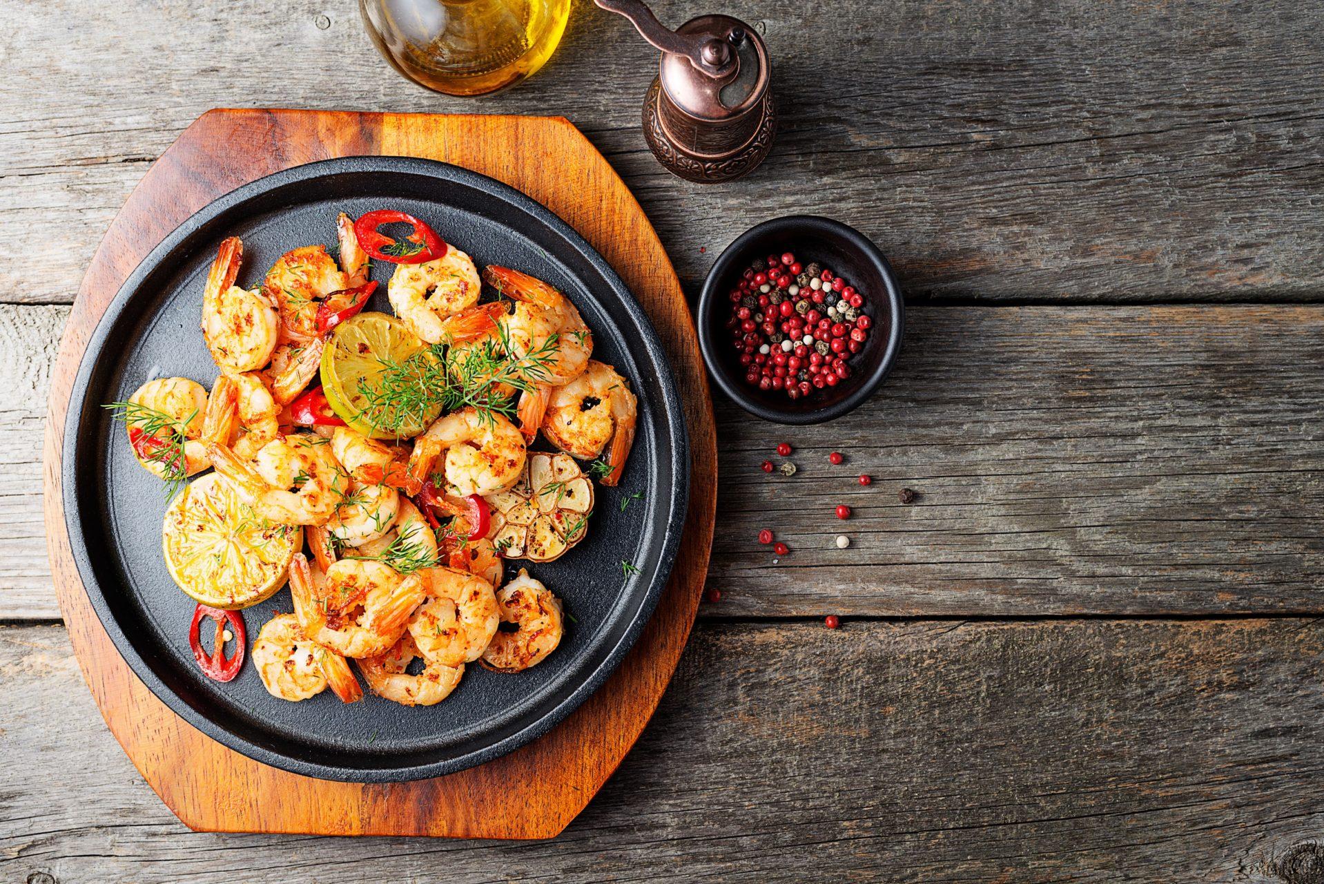 Crevettes marinade escabèche à griller au barbecue ou à la plancha