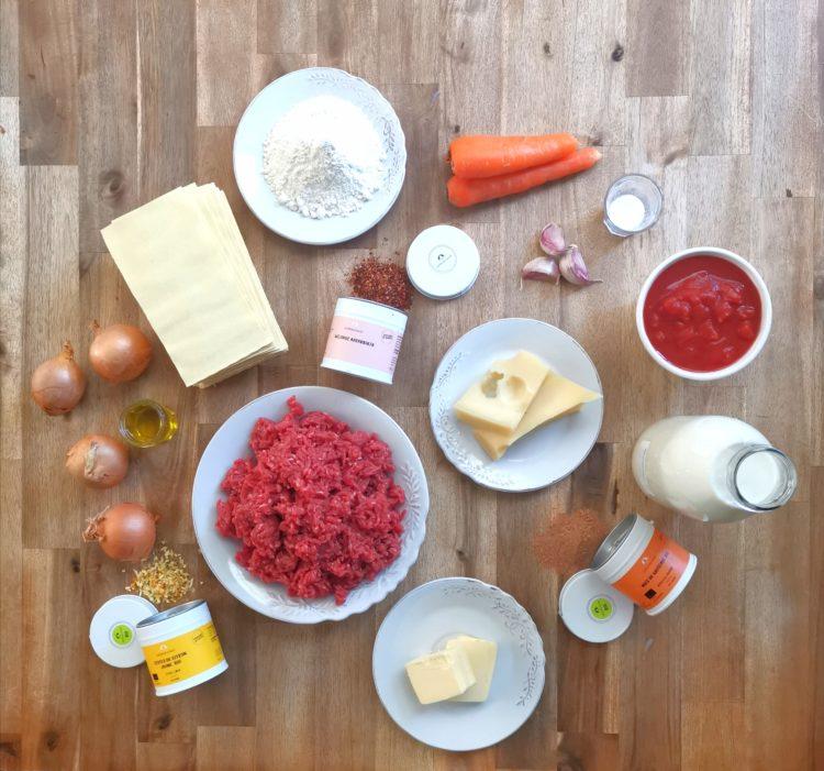 Ingrédients lasagnes Georges Colin